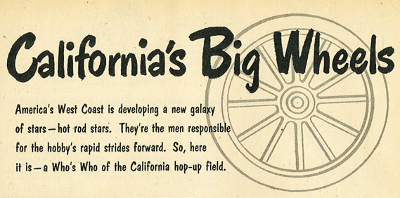 California's Big Wheels (Who's Who for 1952)…
