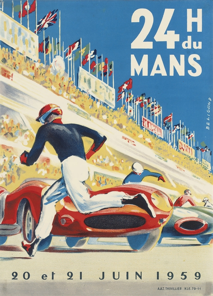 Auto Racing Vintage Art Posters at AllPosterscom