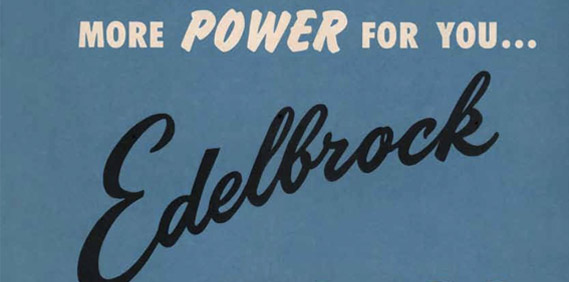 Edelbrock parts catalog for '59-'60 (part I)