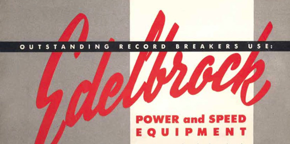 Edelbrock parts catalog for 1952