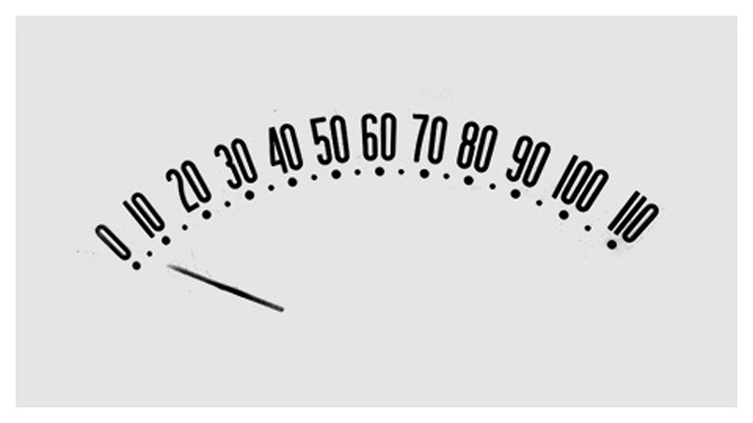 a study in vintage speedometer graphics
