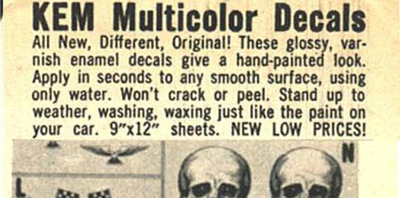 Vintage Hot Rod Decals