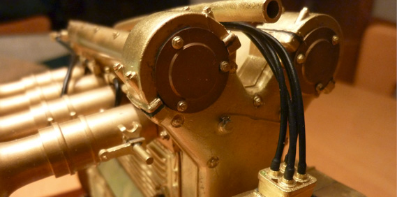 Shelf Treasure: Scale Model Offy Motor in Brass