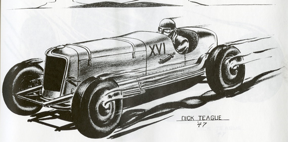 Dick Teague Hot Rod Sketches (1947)