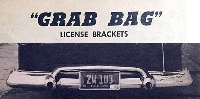 "Car Craft ""Grab Bag"" Part 1: Custom License Backets"