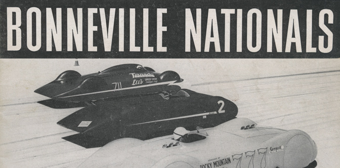 The Bonneville Nationals, 1950