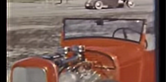 1950s Drag Strip film in Color
