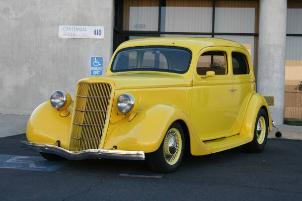 1935 ford 2 door slantback sedan the h a m b for 1936 ford 2 door slant back