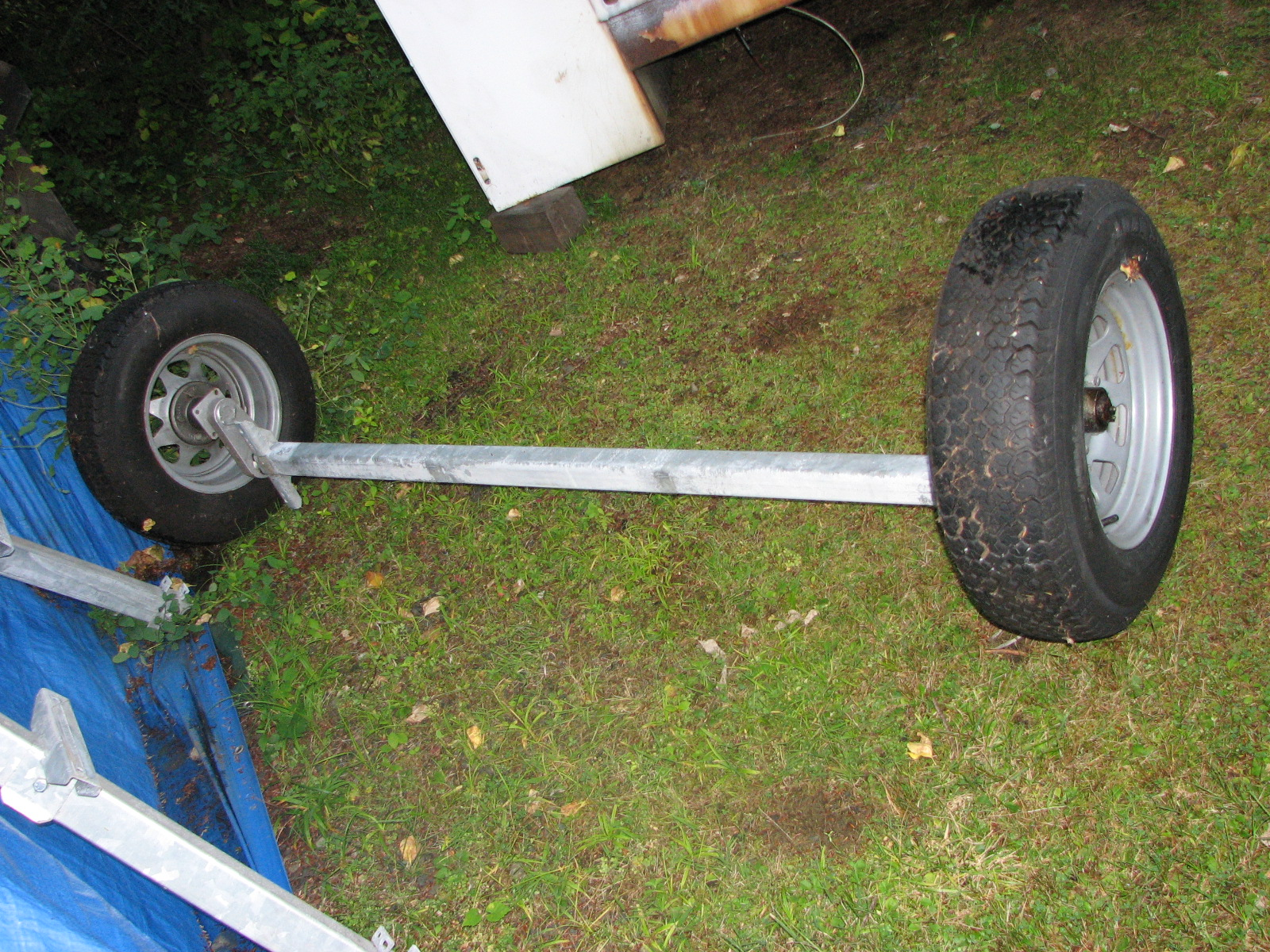 complete trailer axle with elastic suspension | The H.A.M.B.