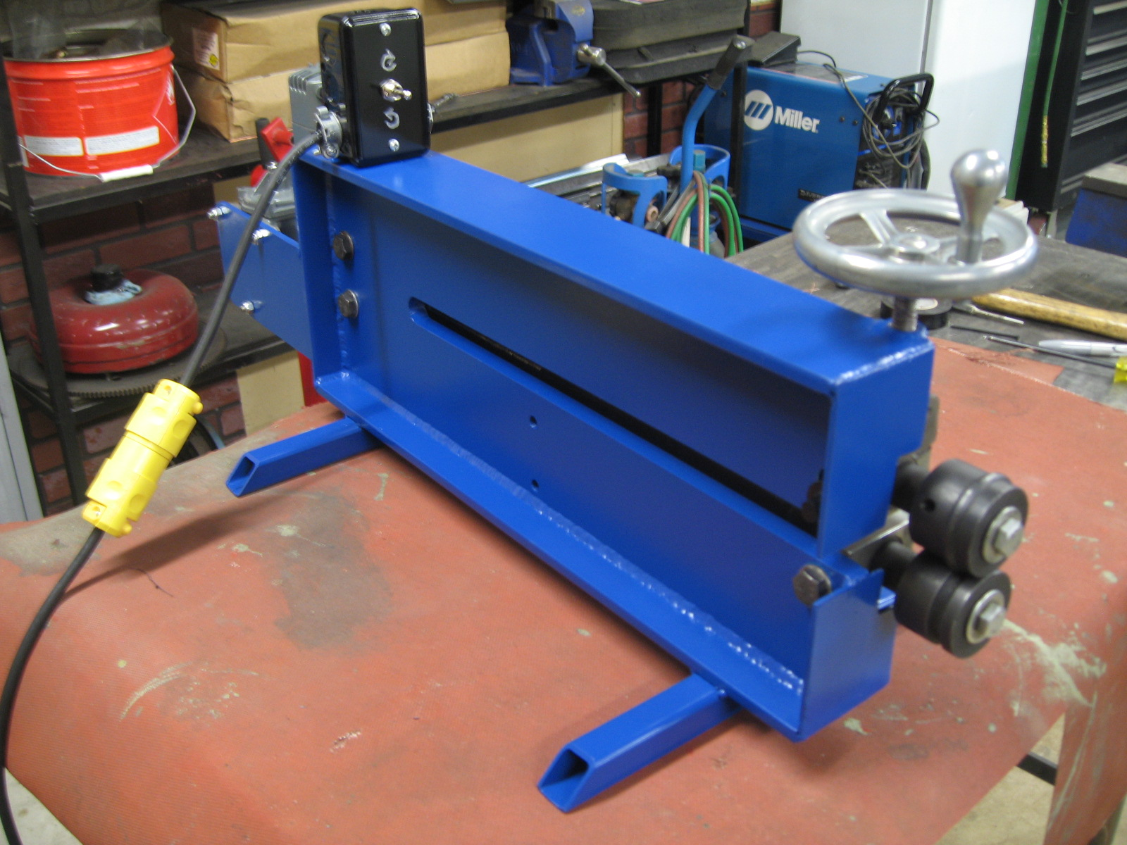 Another bead roller beef up and power the h a m b for Power bead roller motor
