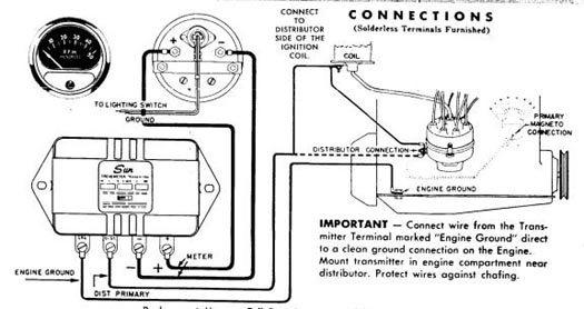 Technical need help wiring sun transmitter tach the h