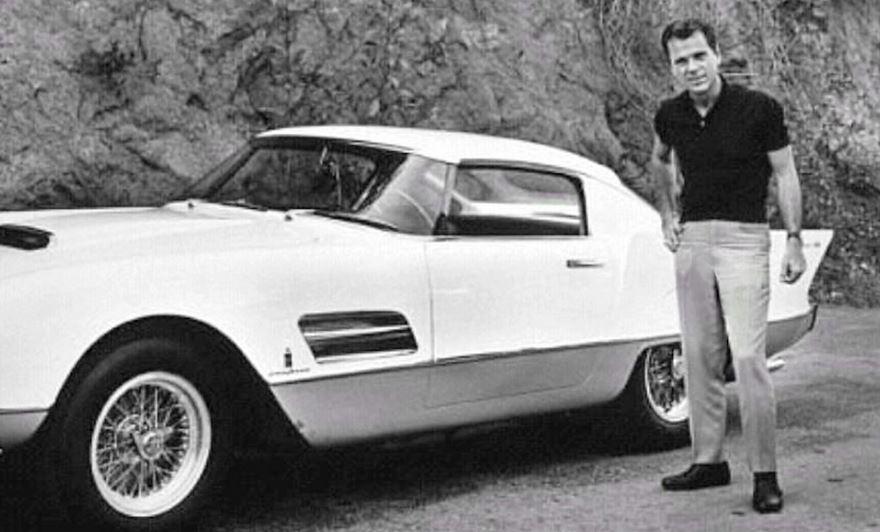 100 Cooper, Jackie with his 1956 Ferrari Superfast.JPG