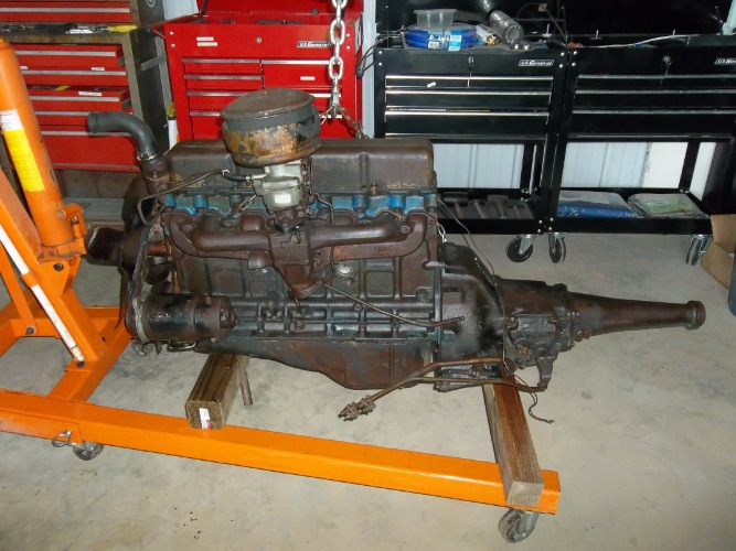 39 57 Chevy 235 Complete Pu Engine Trans Assy The H A M B