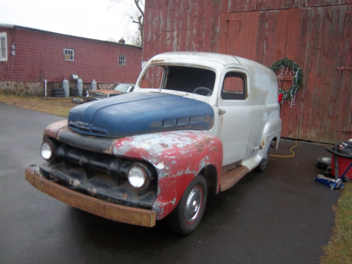 1952 FORD F1 PANEL TRUCK PROJECT DONOR CAR INCLUDED $5900 | The H.A.M.B.