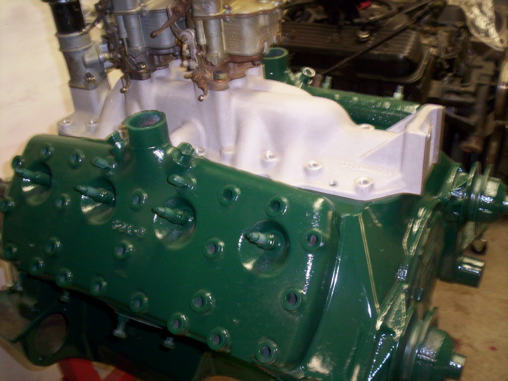 Dark ford blue engine paint flathead dark tractor engine for Ford motor paint colors
