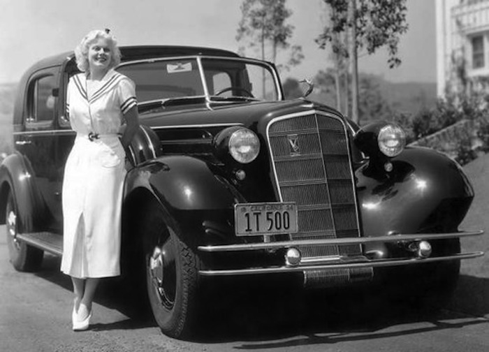 101 Jean Harlow with her 1934 Cadillac Split Limo.jpg