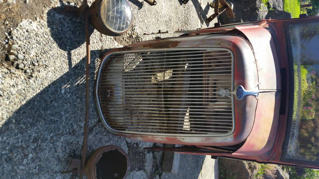1934 Ford Pickup Cab Hood Grille Amazing Patina Some