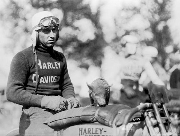 "17 Harley-Davidson ""Hog Boys"" racer Ray Weishaar taking good care of the team mascot.2.jpg"