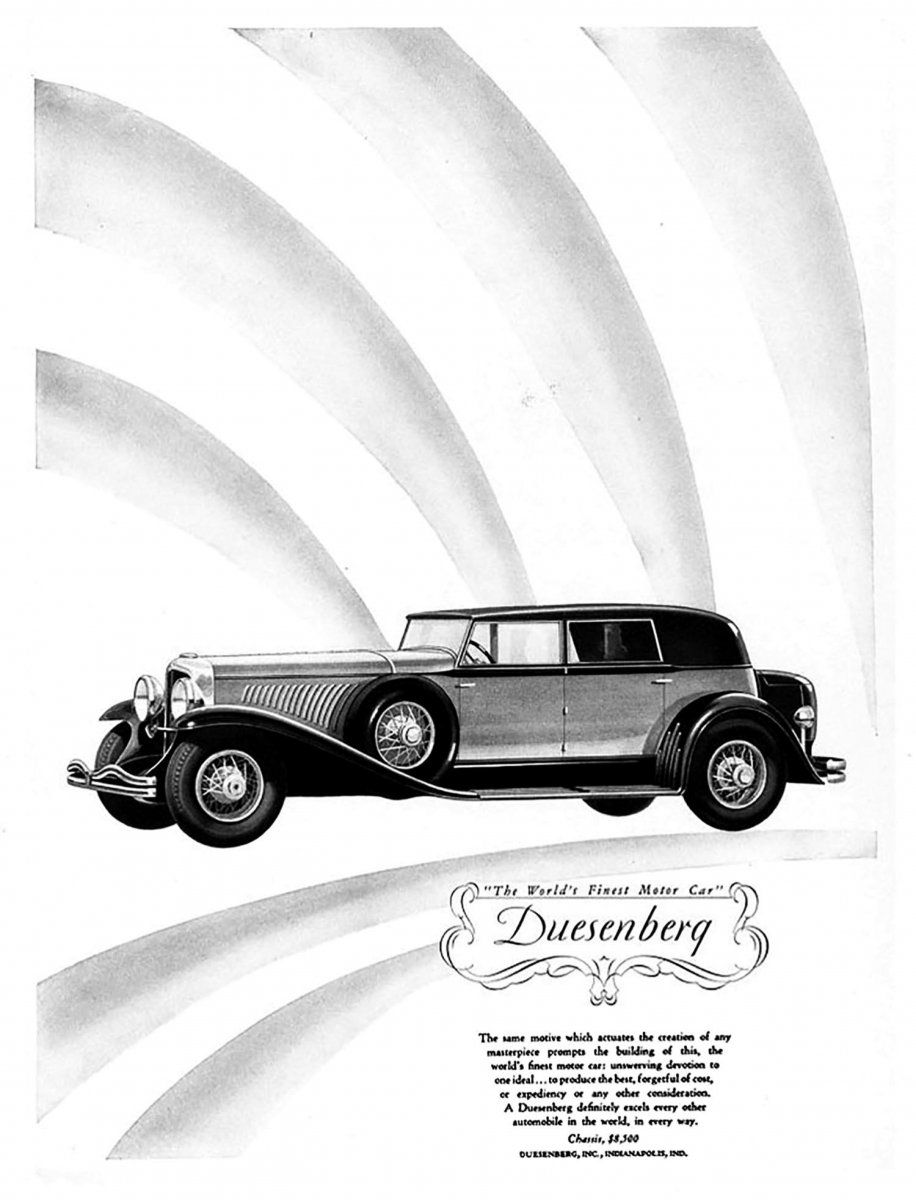 history graphic design when racing was dangerous and sex was safe 1941 Chevy Cabover 1929 model j convert sedan duesenberg 1 01