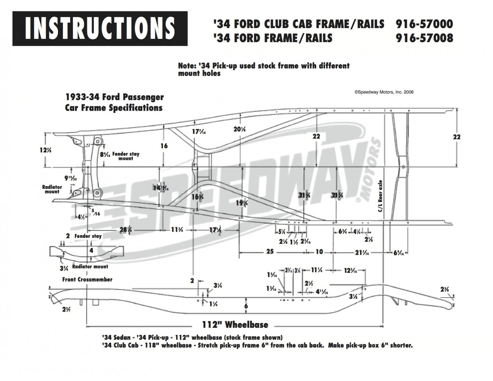 1934 Ford Frame Dimensions Lajulak Org