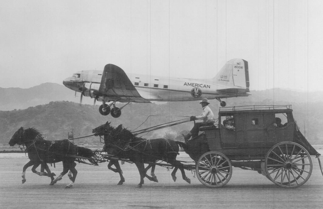 1939 Chuck Jennings Aeroplane-vs-Stagecoach in 1949.jpg