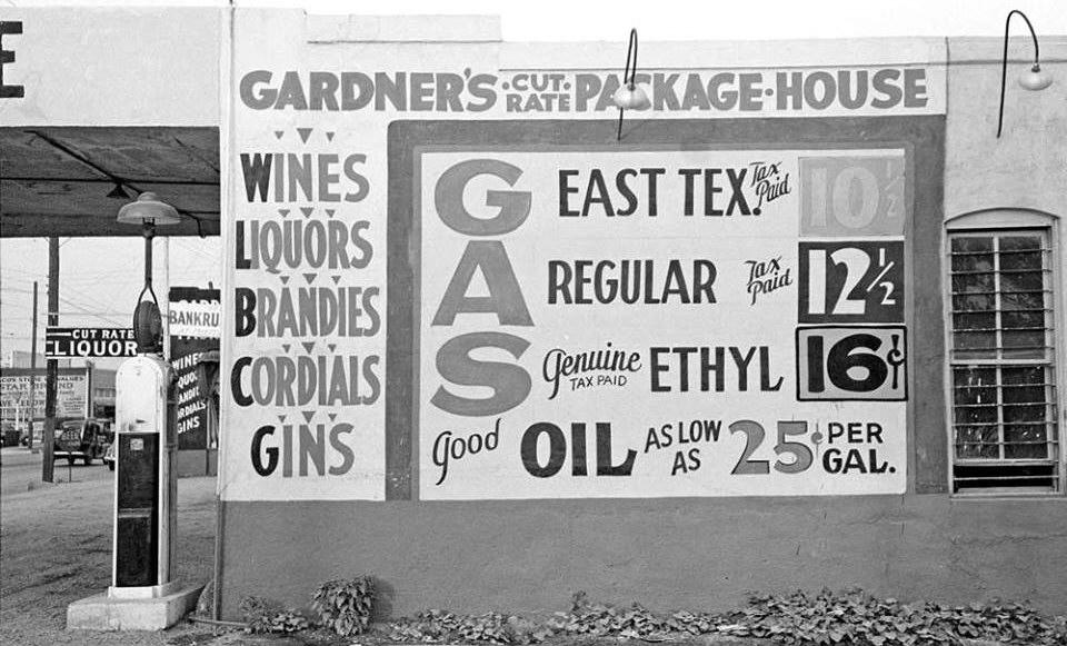 1939 Waco TX gas station price billboard.jpg