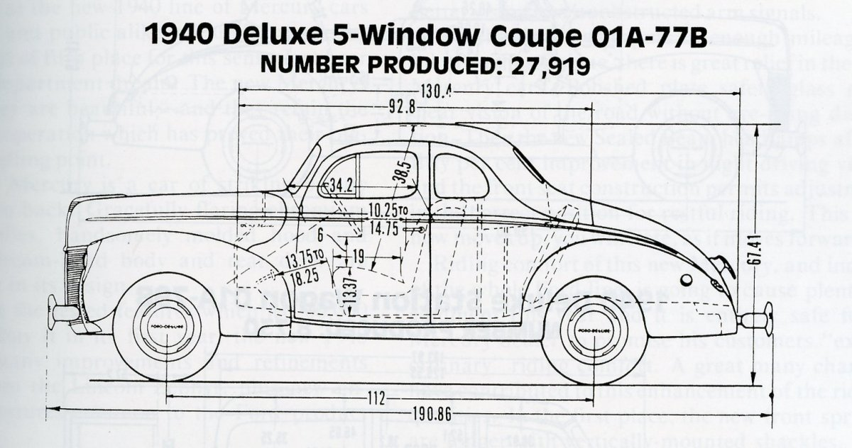 1940 ford frame dimensions