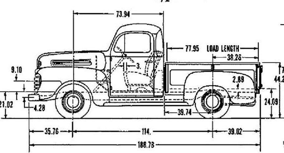 4952 ford f1 truck dimensions  The HAMB