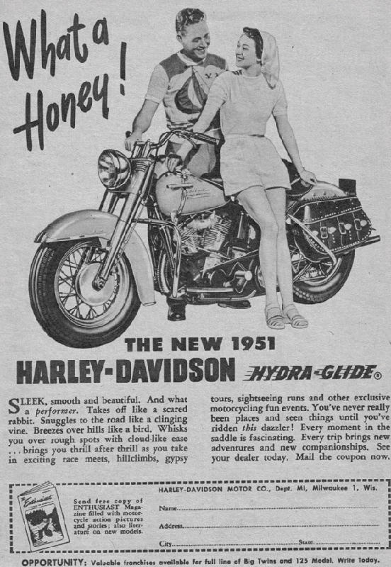 1951 motorcycle harley davidson what a honey ad.jpg