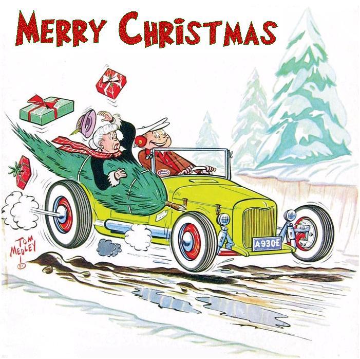 Art & Inspiration - TRADITIONAL Hot Rod & Custom CHRISTMAS Greeting ...