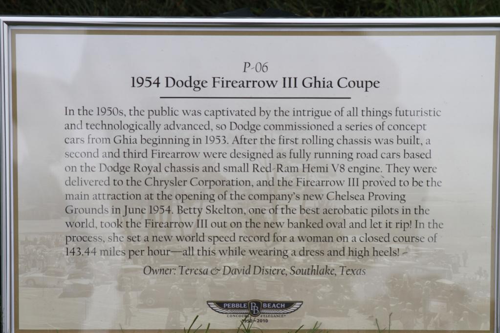 1954 Dodge FireArrow III Ghia Coupe @ Pebble Beach '10 (placard).jpg