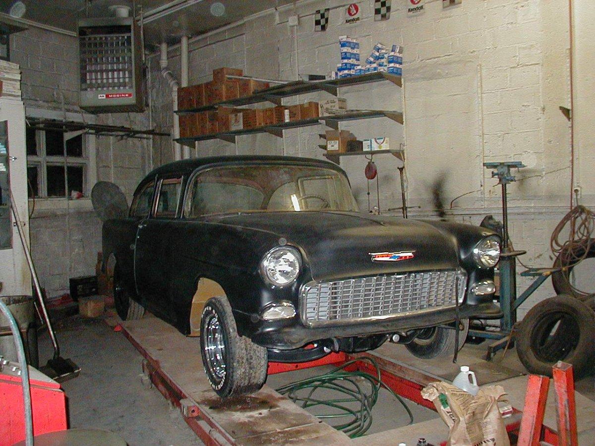 1955 Chevrolet,day 1,Jan 4th,2007.JPG