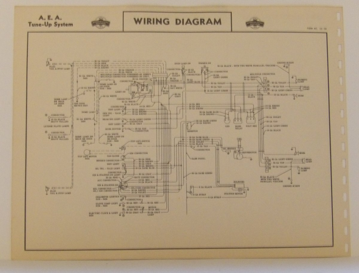 1955 Chrysler Wiring Diagram Aea Tune Up Charts 1949 Chevy Ford Dodge Buick Olds 265 V8 Us Canada 2
