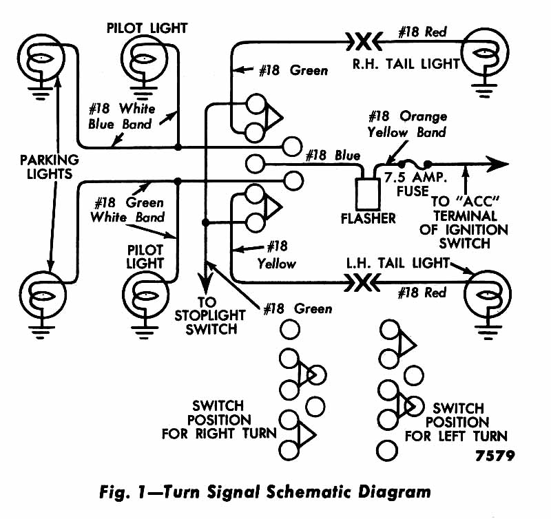 technical wiring issues brake and turn signal the h a m b gm turn signal wiring diagram at crackthecode.co