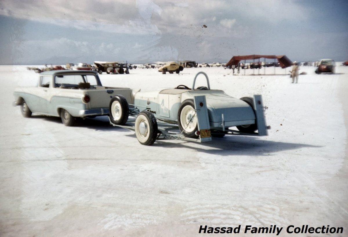 1957 - #4 John Cramer's (Ardun powered) B Modified Roadster on the trailer.jpg