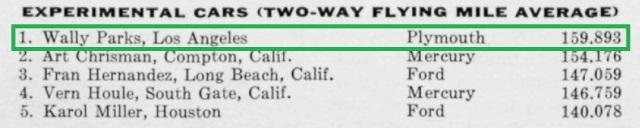 1957 Daytona Beach - Experimaental Cars - Two Way Flying Mile Average.jpg