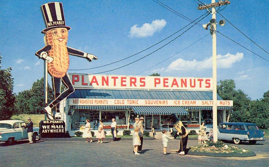1957 roadside stop Planters Peanuts.jpg