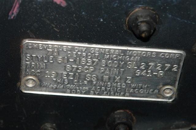 1961 Chevy Impala SS body tag 3.jpg