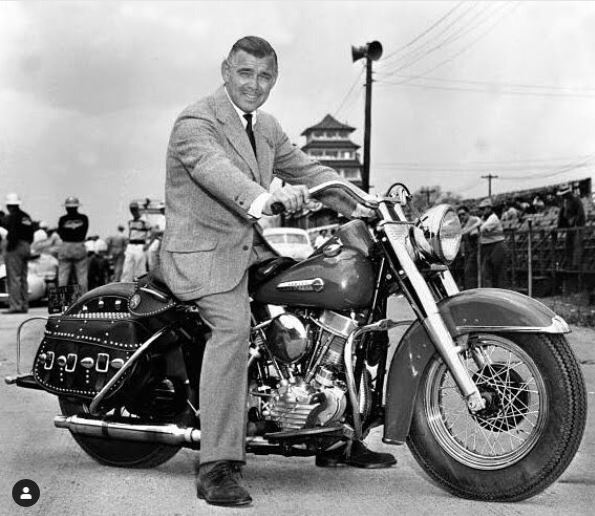 1ae Clark Gable on his 1950 Panhead..JPG