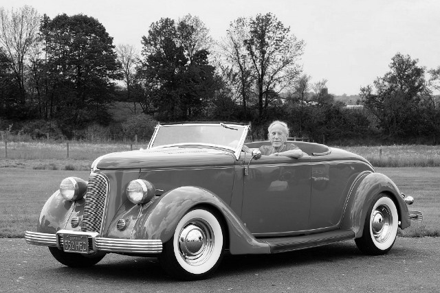 2012 - Spence Murray in his 1936 Ford ('78 R&C Project Custom) by Spike Kilmer (1).jpg