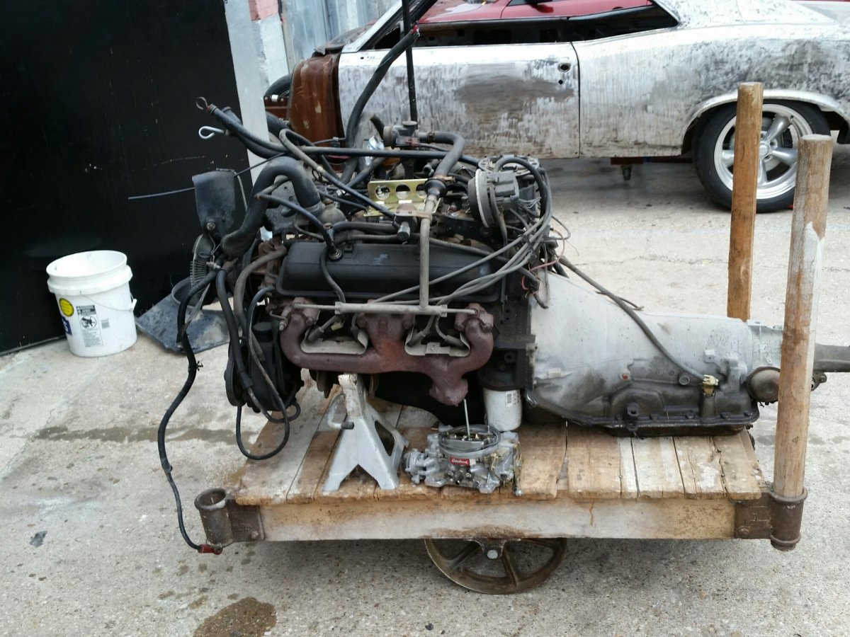 Chevy 350 engine and 700R4 auto transmission | The H A M B
