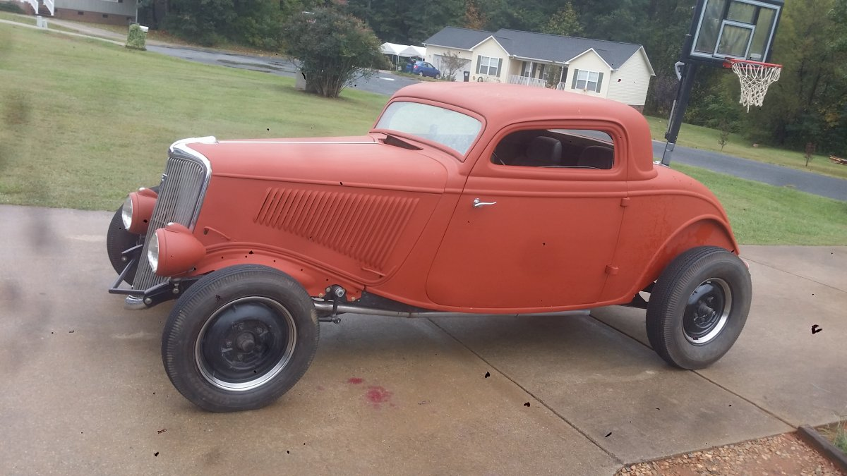 1934 ford 3 window coupe the h a m b for 1934 ford three window coupe