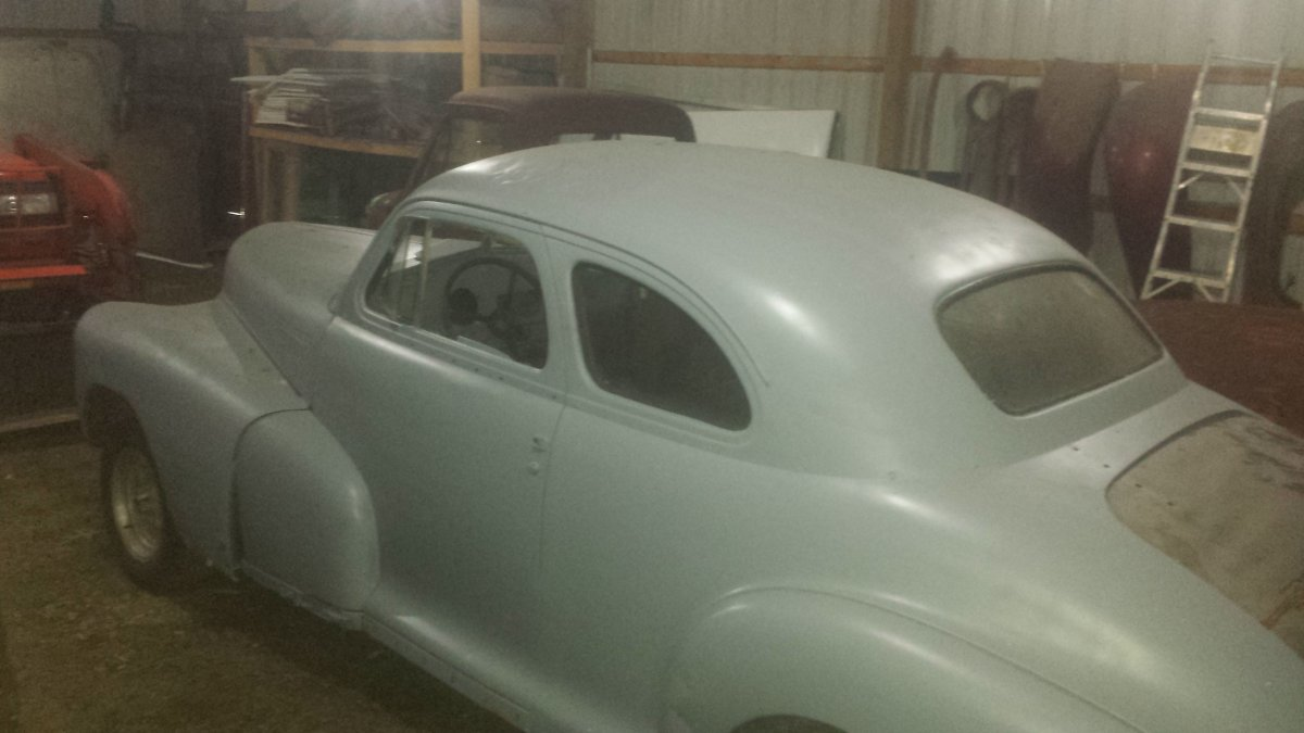 1948 chevy coupe project  lowered price