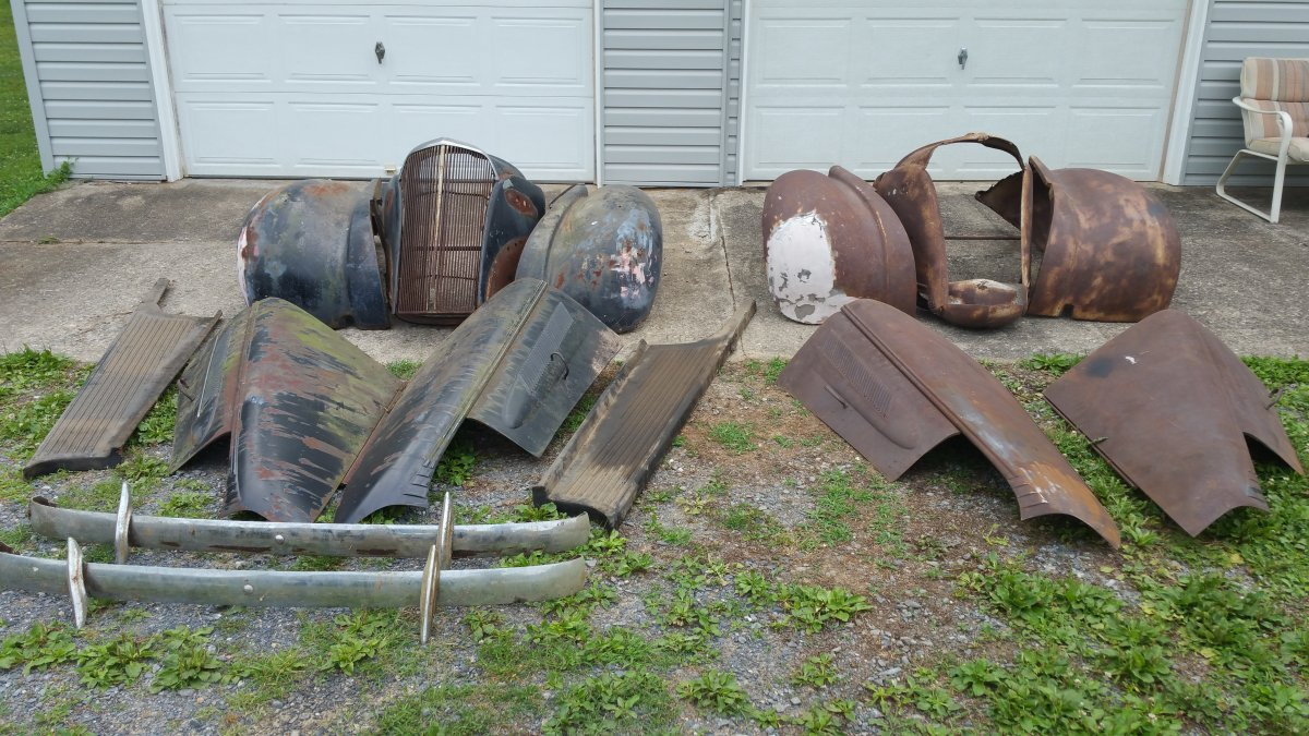 1937 Chevrolet Coupe And Sedan Front End Sheet Metal And Parts The H A M B