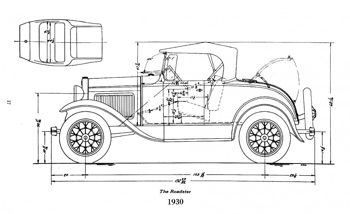 Hot Rods - 1930/31 roadster subframe and body dimensions | The H A M B