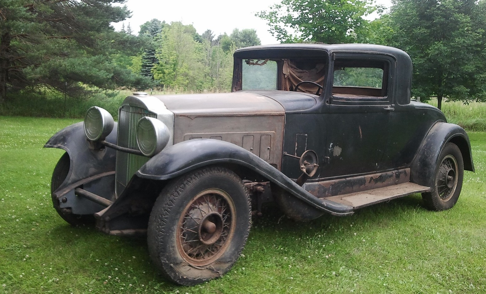 1932 Packard 3 Window, Rumble Seat Coupe: Original, Unrestored with ...