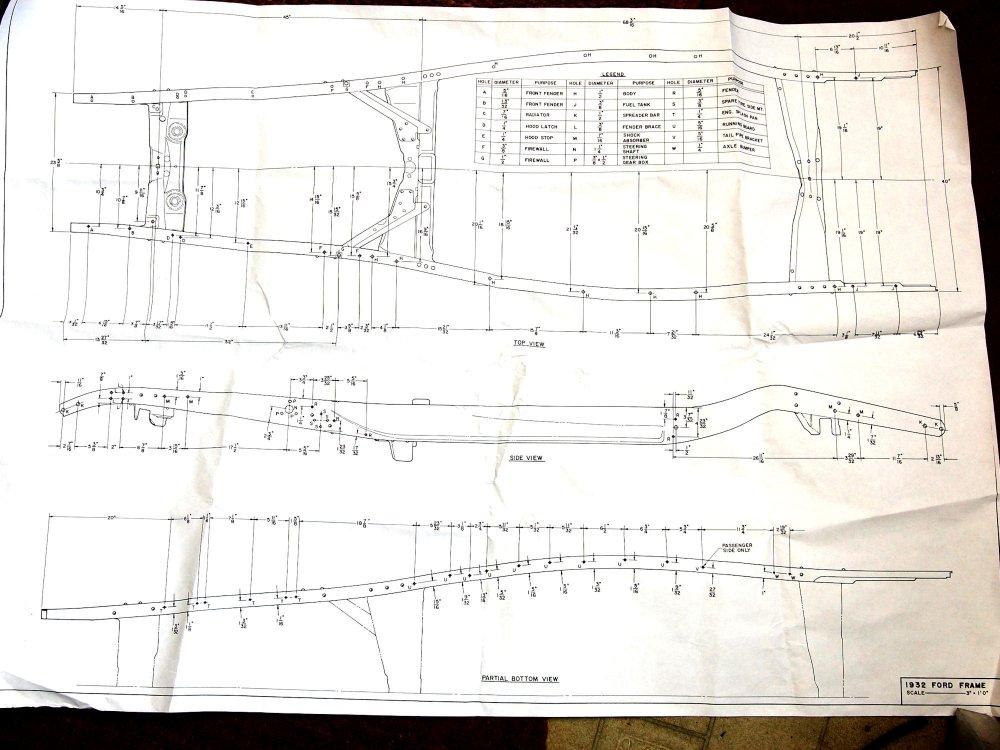 32 Ford Frame Dimensions >> Technical - 1932 original frame holes | The H.A.M.B.
