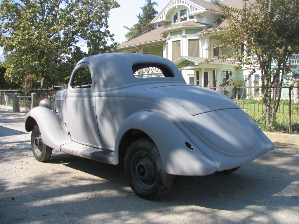 1935 ford 3 window coupe project