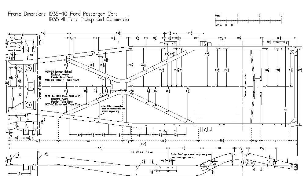 Technical 1940 Ford Chassis Under Willys Body The H A