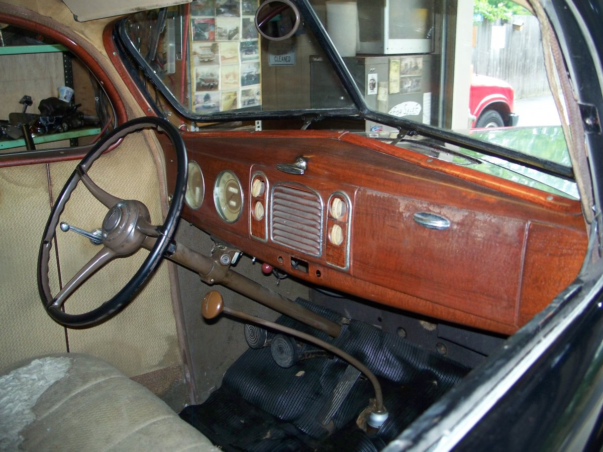 hot rods  1939 ford dash question